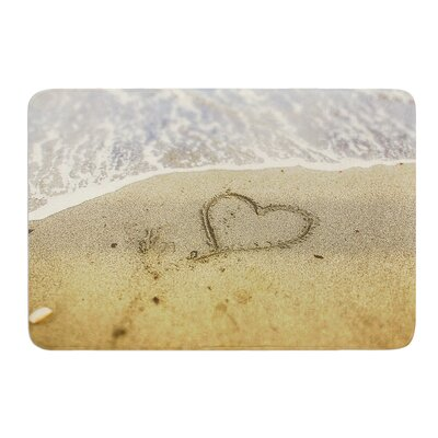 Beach Heart by Debbra Obertanec Bath Mat Size: 17W x 24L