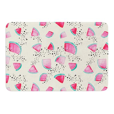 Watermelon by Danii Pollehn Bath Mat Size: 17W x 24L