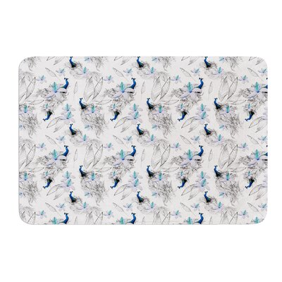 Peacock Fun by Danii Pollehn Bath Mat Size: 24 W x 36 L