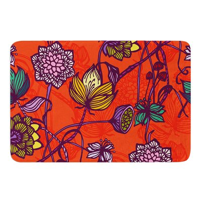 Garden Blooms by Gill Eggleston Bath Mat Size: 24 W x 36 L