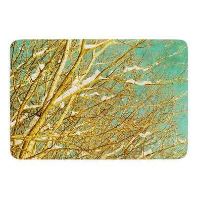 Snow Covered Twigs by Iris Lehnhardt Bath Mat Size: 17w x 24L