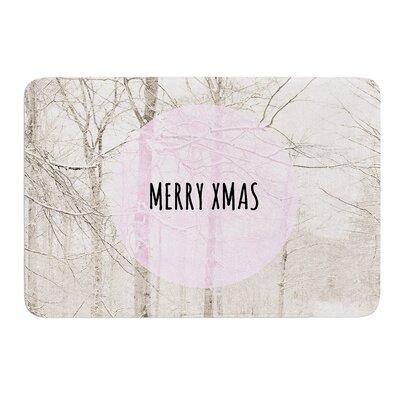 Merry Xmas by Iris Lehnhardt Bath Mat Size: 24 W x 36 L