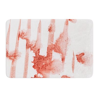 Marsala Watercolor by Iris Lehnhardt Bath Mat Size: 17w x 24L