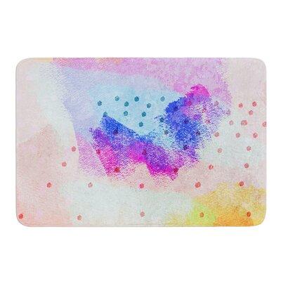 Summer Pastels by Iris Lehnhardt Bath Mat Size: 17w x 24L