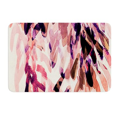 Abstract Leaves I by Iris Lehnhardt Bath Mat Size: 17w x 24L