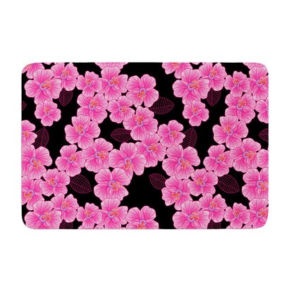 Pink on Black by Julia Grifol Bath Mat Size: 17 W x 24 L