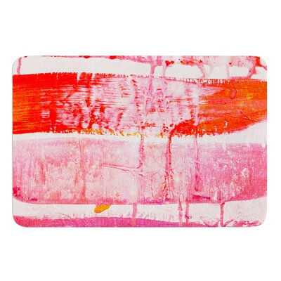 Coral Paint Wash by Iris Lehnhardt Bath Mat Size: 24 W x 36 L