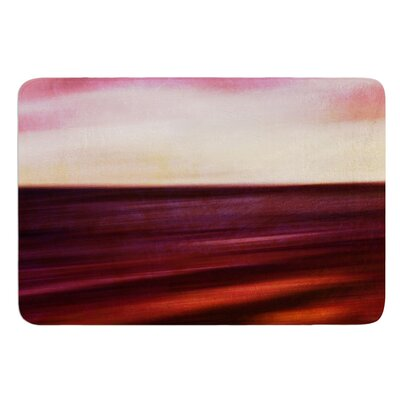 Seascape Sunset by Iris Lehnhardt Bath Mat Size: 17w x 24L