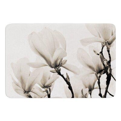Magnolia Blossoms by Iris Lehnhardt Bath Mat Size: 17w x 24L