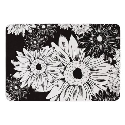 Midnight Florals by Laura Escalante Bath Mat