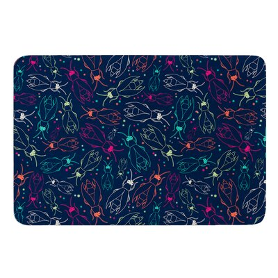 Fireflies Midnight Garden by Laura Escalante Bath Mat