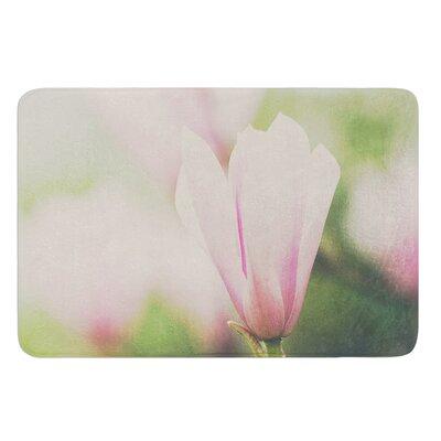 A Pink Magnolia by Laura Evans Bath Mat