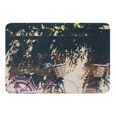 Pretty Bicycles by Laura Evans Bath Mat