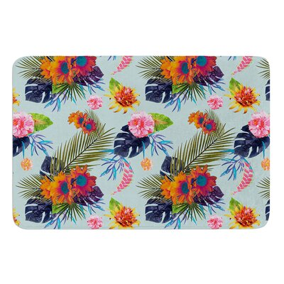 Tropical Floral by Nika Martinez Bath Mat