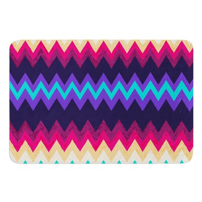 Surf Chevron by Nika Martinez Bath Mat