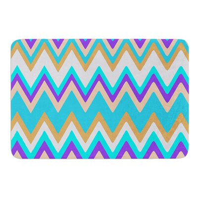 Girly Surf Chevron by Nika Martinez Bath Mat
