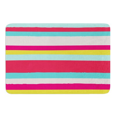 Girly Surf Stripes by Nika Martinez Bath Mat