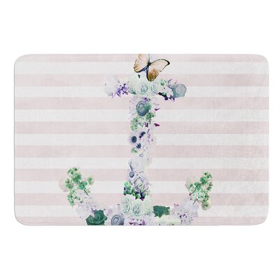 Floral Anchor by Nika Martinez Bath Mat