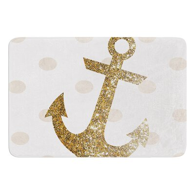 Glitter Anchor by Nika Martinez Bath Mat