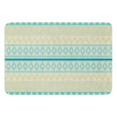 Glitter Chevron by Nika Martinez Bath Mat