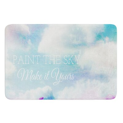 Paint the Sky by Alison Coxon Bath Mat Size: 17W x 24L