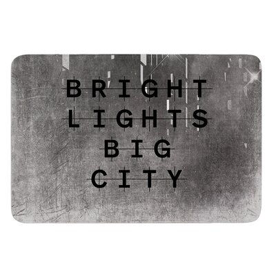 Bright Lights by Alison Coxon Bath Mat Size: 17W x 24L