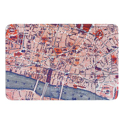 City Of London by Alison Coxon Bath Mat Size: 17W x 24L
