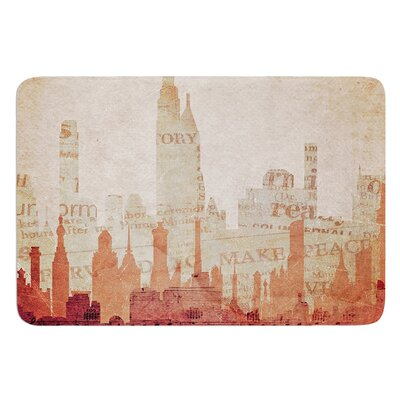 City by Alison Coxon Bath Mat Size: 24 W x 36 L