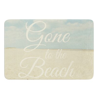 Gone To The Beach by Alison Coxon Bath Mat Size: 17W x 24L