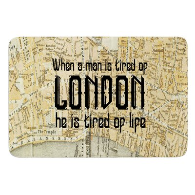 London Type by Alison Coxon Bath Mat Size: 24 W x 36 L