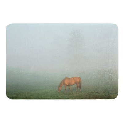Horse in Fog by Angie Turner Bath Mat Size: 17W x 24L