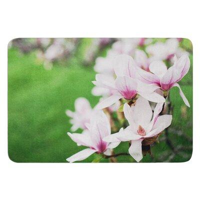 Magnolias by Angie Turner Bath Mat Size: 17W x 24L