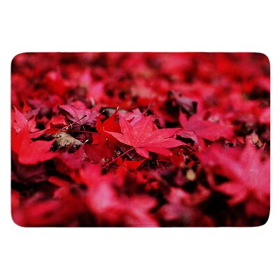 Leaves by Angie Turner Bath Mat Size: 17W x 24L