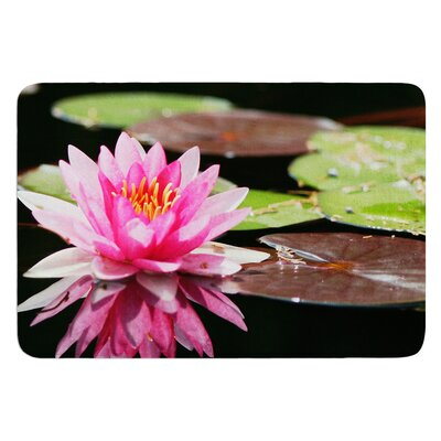 Water Lily by Angie Turner Bath Mat Size: 17W x 24L
