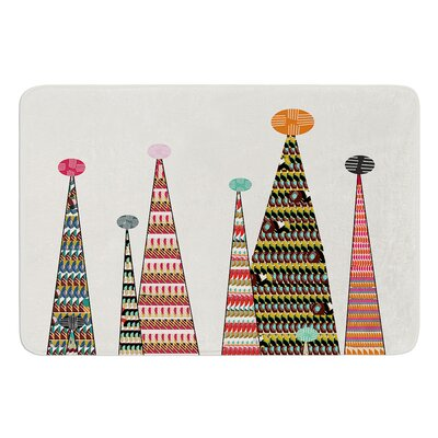 Feather Peaks by Bri Buckley Bath Mat Size: 24 W x 36 L