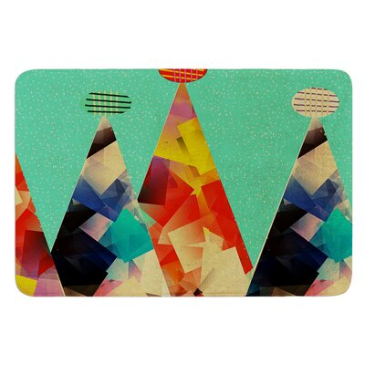 Rainbow Peaks by Bri Buckley Bath Mat Size: 17W x 24L