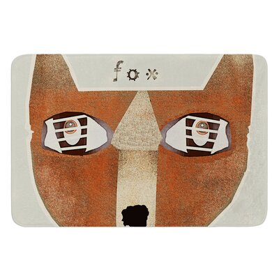 Fox Face by Bri Buckley Bath Mat Size: 24 W x 36 L