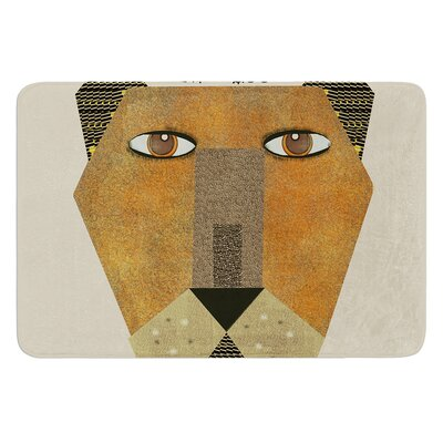 Lioness by Bri Buckley Bath Mat Size: 17W x 24L