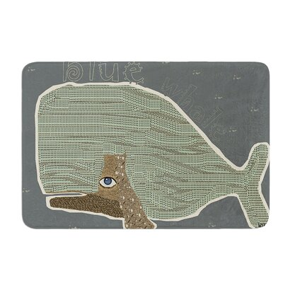 Whale by Bri Buckley Bath Mat Size: 17W x 24L