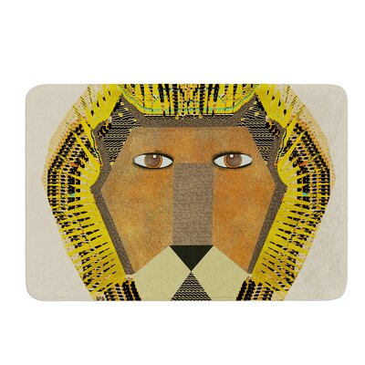 Lion by Bri Buckley Bath Mat Size: 24 W x 36 L