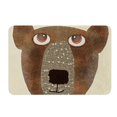 Bear by Bri Buckley Bath Mat Size: 17W x 24L