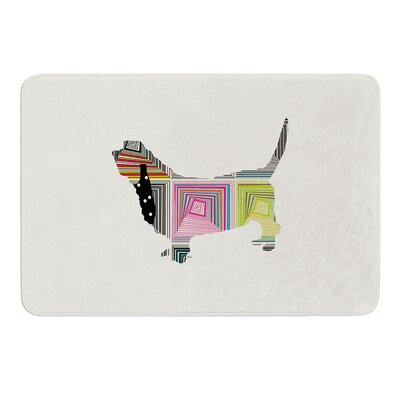 Basset by Bri Buckley Bath Mat Size: 24 W x 36 L