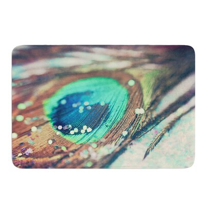 Peacocks Dream by Beth Engel Bath Mat Size: 24 W x 36 L