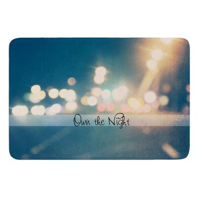 Own The Night by Beth Engel Bath Mat Size: 24 W x 36 L