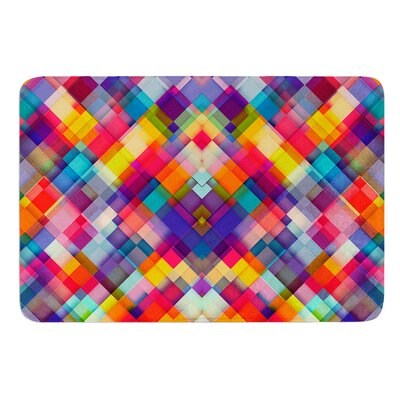 Squares Everywhere by Danny Ivan Bath Mat Size: 17