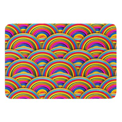Rainbows by Danny Ivan Bath Mat Size: 24 W x 36 L
