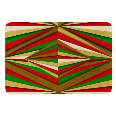 Christmas Pattern by Danny Ivan Bath Mat Size: 24 W x 36 L