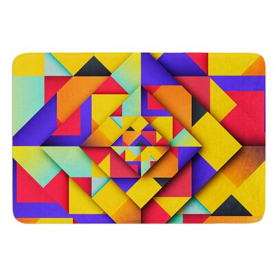 Shapes II by Danny Ivan Bath Mat Size: 24 W x 36 L