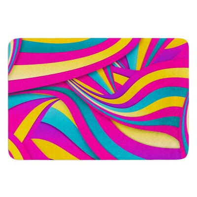 Swirls Everywhere by Danny Ivan Bath Mat Size: 17W x 24L