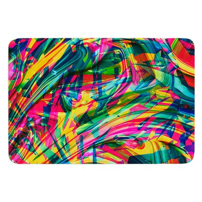 Wild Abstract by Danny Ivan Bath Mat Size: 24 W x 36 L
